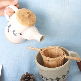 Bamboo tea strainer / tea filter - handmade