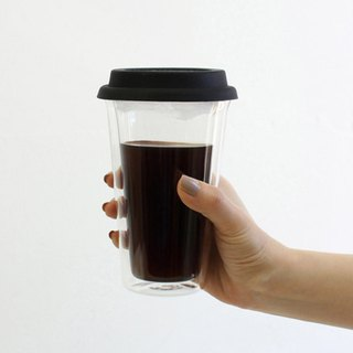 DOUBLE WALL TUMBLER Double Glass Insulation Cup 400ml