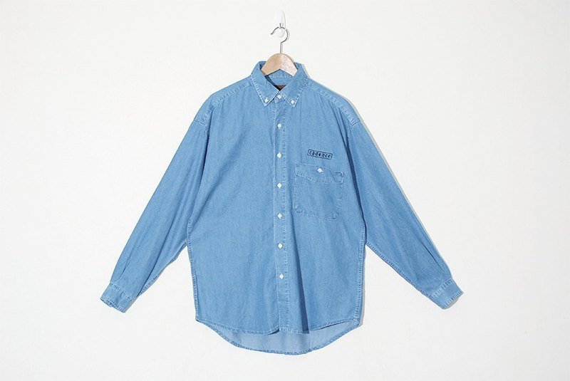 {::: Giraffe giraffe :::} _ day silk cotton pocket wide version of ancient cowboy shirt