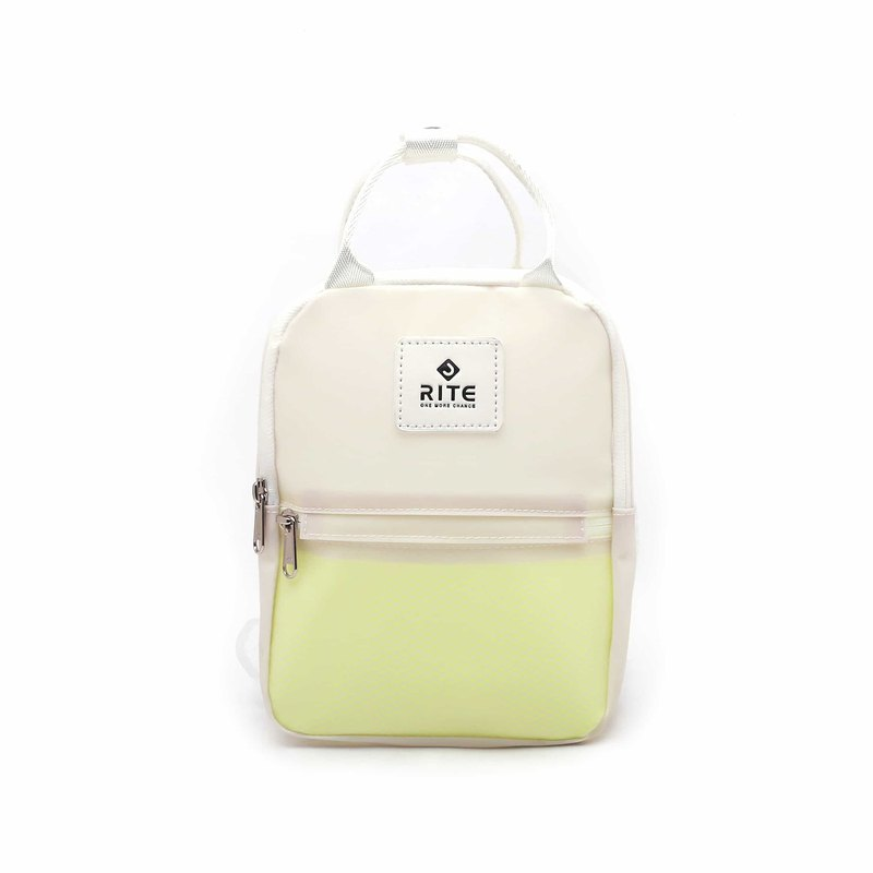 [RITE] Le Tour Series - Dual-use Mini Backpack - Transparent White Yellow