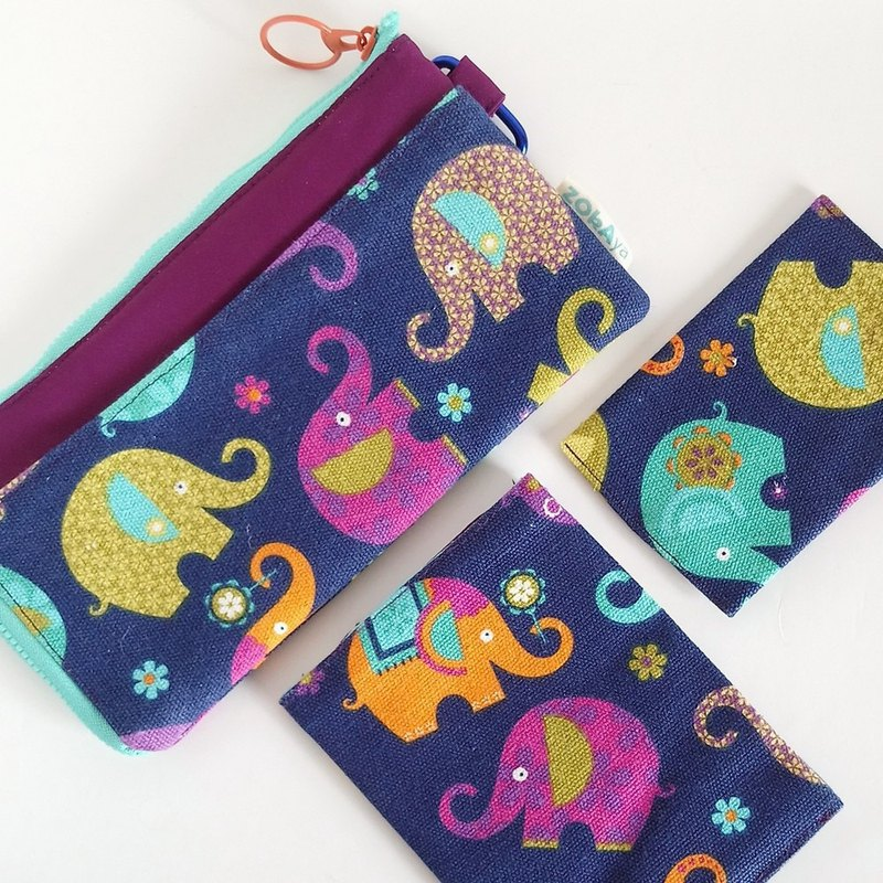 *Stock Clearance* Travel Set (Colourful Elephants)