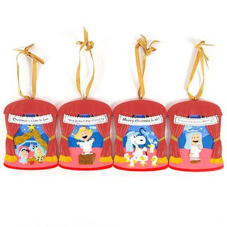 Snoopy Christmas Theater - Charm Four [Hallmark-Peanuts Christmas Series]