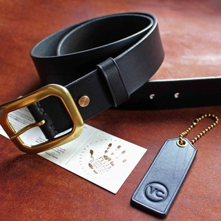 [VULCAN Belt 38mm Standard Wide Belt] Clayton Royal Saddle Italian Plantation
