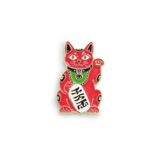 Maneki Cat Red Pin