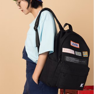 KIITOS new contrast color embroidered barrage series shoulder bag---black woven standard shoulder bag