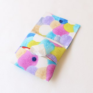 Colorful hair ball dual-use paper bag + sanitary tampon storage bag