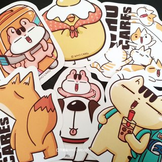 Disdain family series / waterproof large stickers (a set of 6)