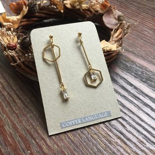 Earrings - Elegant Series / Not Right Scale Hexagon