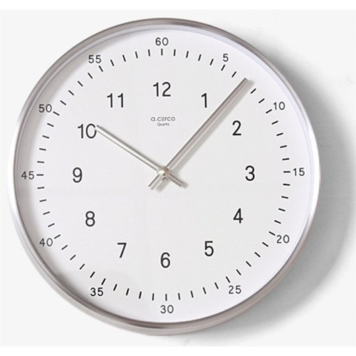 【019002-01】 a.cerco Taiwan silent machine heart TWO TONE wall clock (two colors optional) - white