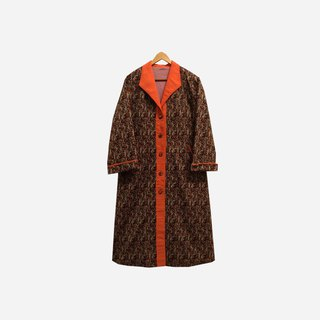 Dislocated vintage / gold long coat no.287 vintage