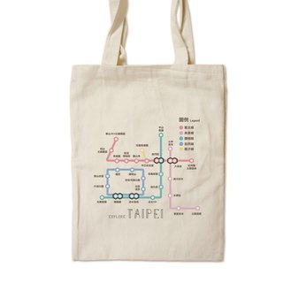 Explore Taipei - Painted Canvas Bag