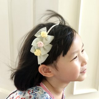 Custom Handmade Braided Beige Butterfly Girl Headband BH069