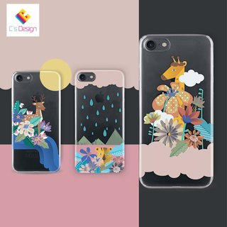 Giraffe cloud - Samsung S5 S6 S7 note4 note5 iPhone 5 5s 6 6s 6 plus 7 7 plus ASUS HTC m9 Sony LG G4 G5 v10 phone shell mobile phone sets shell phone cases