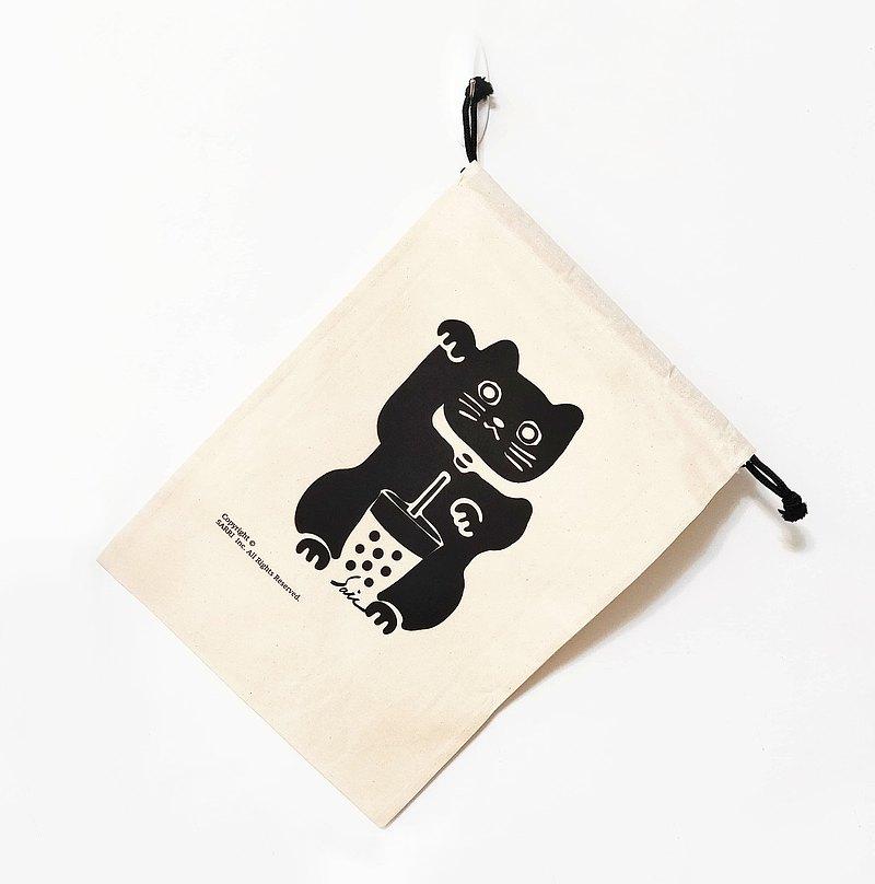 招財貓 行李箱內部收納袋 行李箱 收納袋 帆布袋 巨大束口袋 束口