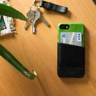 Alto iPhone 8 Leather Case Back Cover 4.7吋 Metro - Lyme Green / Raven Black
