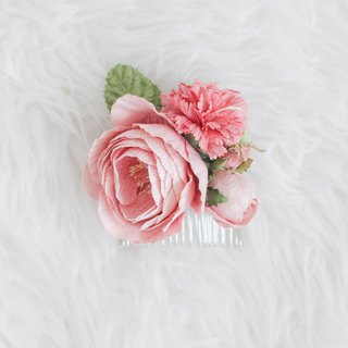 Peach Rose - Paper Flower Hair Comb