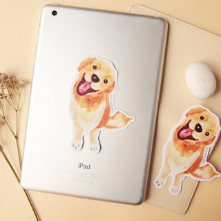 Golden Retriever Dog Luggage Stickers/ Vinyl Sticker/ Planner Window Laptop Cell