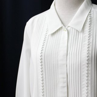 [] Nippon RE0310T1864 modern minimalist retro exquisite tailoring white vintage blouse