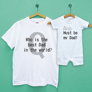 Father's Day Q&A parent-child group / two into Japan UA cotton soft neutral t-shirt / children's T-shirt / baby clothes