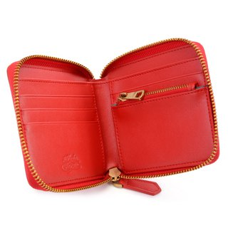 La Poche Secrete Christmas Gifts: Candy Girl's Short Leather Short Folder _ ㄇ-type zipper off _ 红红红 028