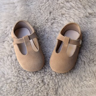 Toddler Girl Shoes, Beige Baby Girl Shoes, Tan Mary Jane, Leather Baby Shoes