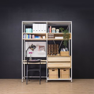 Creesor - Shido 40 Country Style Cabinet Bookcase Desk