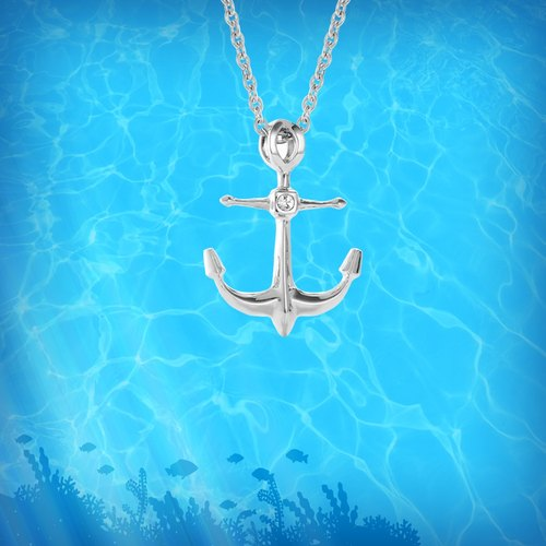 WING Jewelry wing ornaments | anchor series - perseverance necklace l 8AA00452
