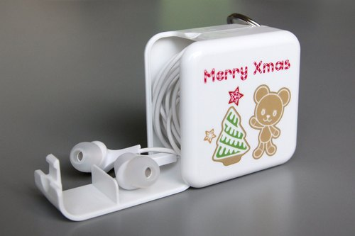3in1 PostPet momo bear a licensed version of portable storage box phone holder (large) - Gold Christmas Edition [Deluxe Edition Gift bag attached]