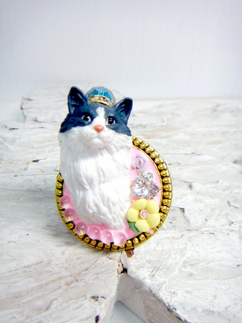 TIMBEE LO pink Persian cat ring