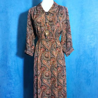 Classic totem vintage dress / abroad brought back VINTAGE