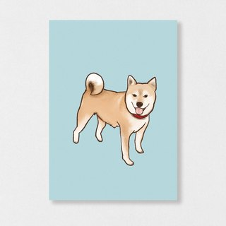 """Shiba"" Planet Flies / Shiba Inu / wool kids / illustration postcards / Hands Bazaar"
