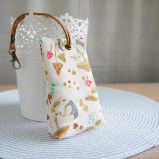 Lovely [Japanese cloth] Malay 貘 Hedgehog stereo tea bag zipper key case, ID sensor card, rice