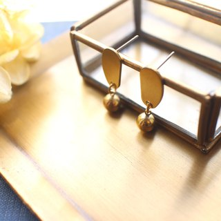 Little spot- Brass earrings