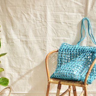 Light blue Nagridia crochet bag