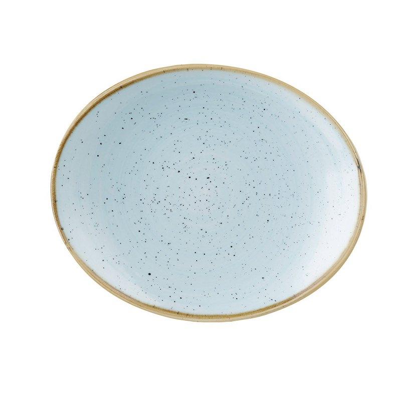 STONECAST點藏系列蛋青色-橢圓20cm餐盤