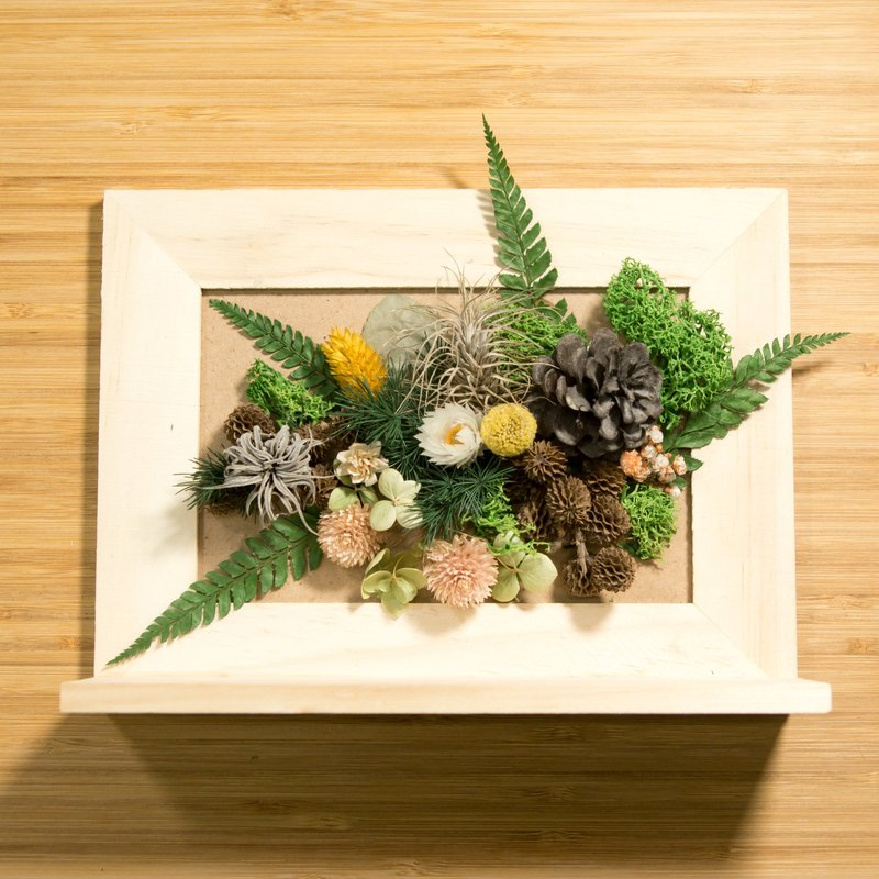 Memory sealed dry flower frame - spring color