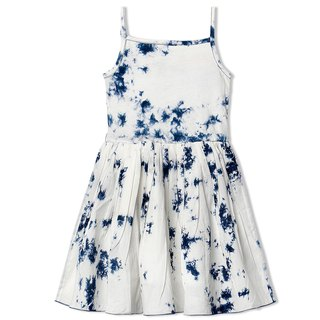 CHANDAMAMA Lively White w/Navy Dress