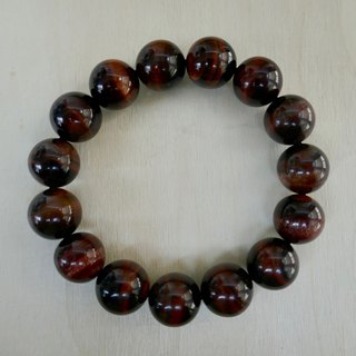 BR0377 - Natural Gemstone Bracelet - Design and Manufacture - Red Tiger Eye