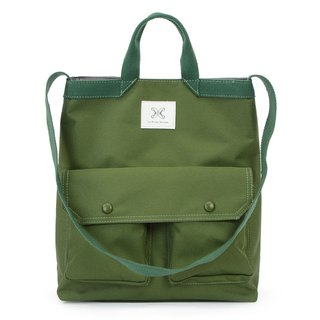LaPoche Secrete: Wen Qing Gift _ Army Green Waterproof Dual-use Canvas Bag _ Can shoulder carry A4