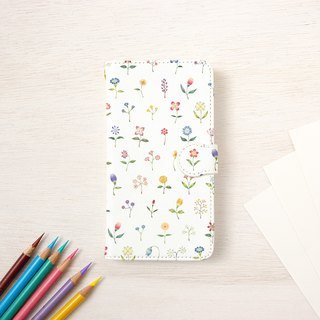 "Fragments of a picture book. Handbook type smart case ""Colorful flowers"" TSC-95"