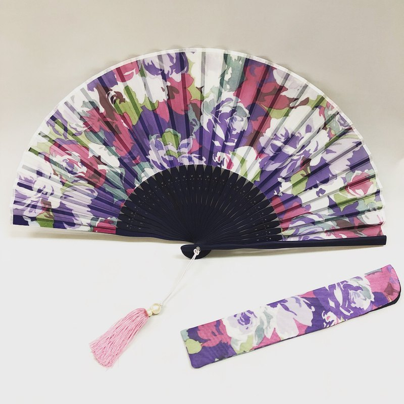 Ballett print fan made in Japan (scarf not included)