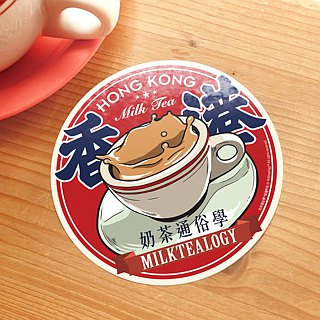MILKTEALOGY waterproof large sticker 01: Milk tea