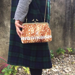 Deer strolling gold bag - cross-body bag / shoulder bag