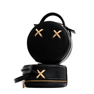 [Hong Kong, Macao and Taiwan] MBS RebelHeart leather small round bag Messenger bag personality niche shoulder bag