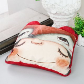 Stephy Designer  Cute Red Fox Art Design Printed Blanket / Cushion / Pillow 3in1