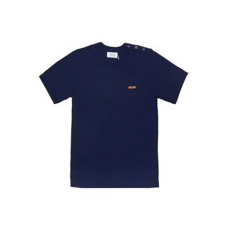 oqLiq - one way T-shirts - Blue Cotton