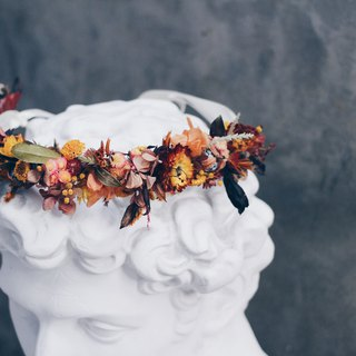 Flower Crown!! [Sun God-Apollo] Dry Flower Head Crown Wedding Picnic Marriage