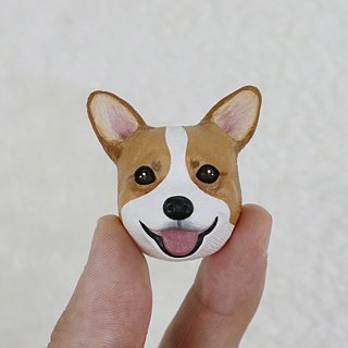 Coco dog / kequette ass needle (pin / magnet) | hand | animal | accessories | jewelry |