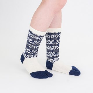 Tooti pattern toe socks