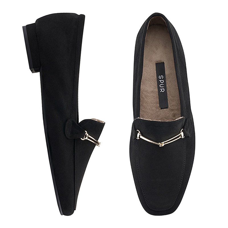 PRE-ORDER SPUR Pluffy loafer OF8066 BLACK
